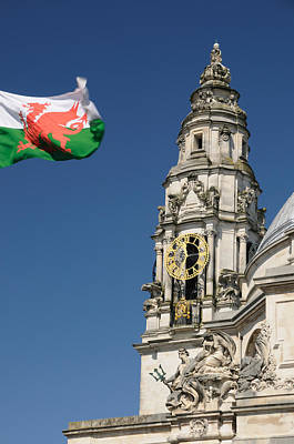 Art Print featuring the photograph Cardiff City Hall by Jeremy Voisey