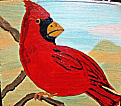 Painting - Cardinal 1 by Daniel Nadeau