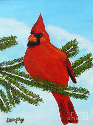 Painting - Cardinal by Anthony Dunphy