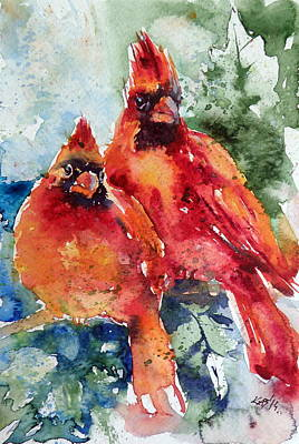 Cardinal Birds Art Print