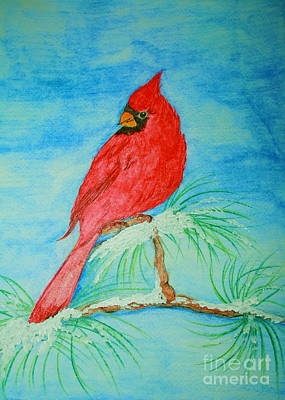 Painting - Cardinal by Christina A Pacillo
