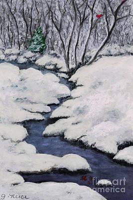 Cardinal Creek Art Print by Ginny Neece