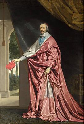 Painting - Cardinal De Richelieu by Philippe de Champaigne