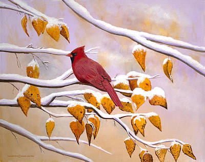 Painting - Cardinal by Dorothy Riley