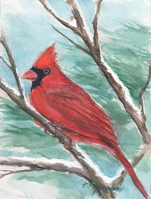 Painting - Cardinal by Kerry Kupferschmidt