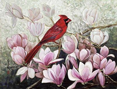 Cardinal Art Print by Komi Chen