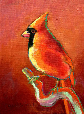 Cardinal On Red Art Print