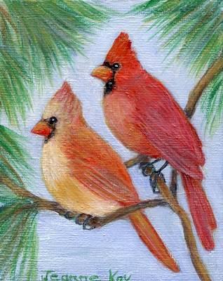 Painting - Cardinal Pair by Jeanne Kay Juhos