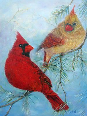 Painting - Cardinal Pair by Loretta Luglio