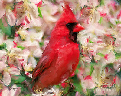 Digital Art - Cardinal Red by Ruby Cross