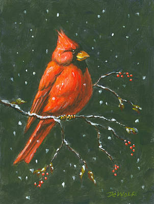Red Painting - Cardinal by Richard De Wolfe