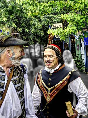 Hdr Photograph - Cardinal Richelieu With D'artagnan  by John Straton