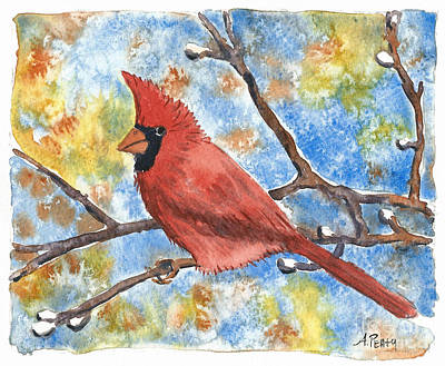 Painting - Cardinal Rule by Audrey Peaty