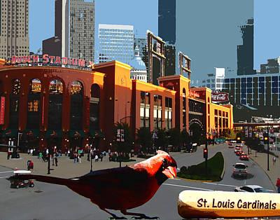 Cardinal Town Art Print