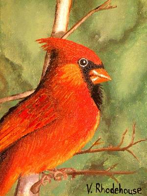 Painting - Cardinalis by Victoria Rhodehouse