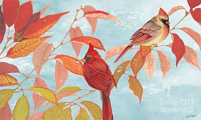 Cardinals In The Fall Original