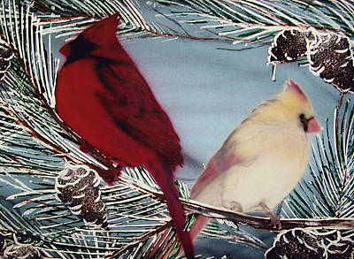 Painting - Cardinals by Jason Girard