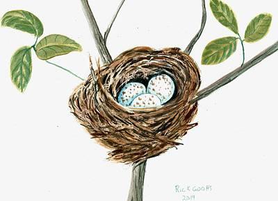Cardinal's Nest Art Print by Richard Goohs