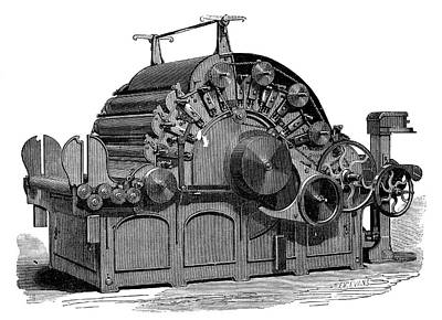 1874 Photograph - Carding Machine by Science Photo Library