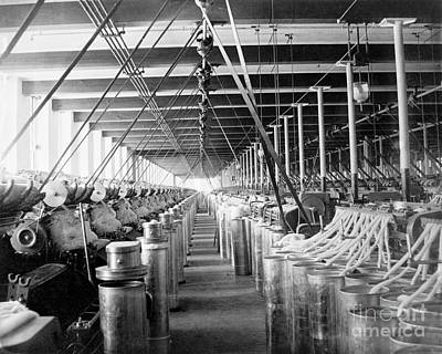 Manchester Mill Photograph - Carding Machines, Circa 1900 by Library Of Congress