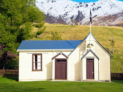 Photograph - Cardrona Schoolhouse by Nicholas Blackwell