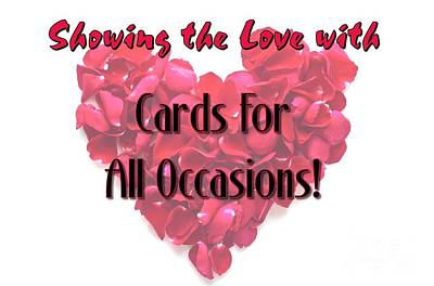 Digital Art - Cards For All Occasions Vday by JH Designs