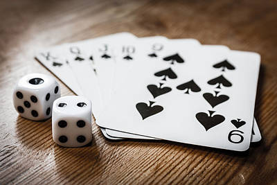 Realistic Photograph - Cards N Dice by Semmick Photo