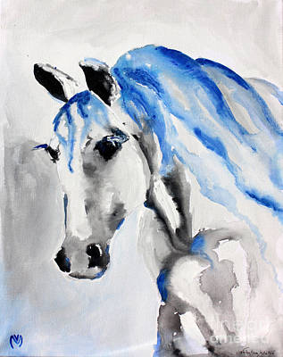 Stable Painting - Care Taker - Horse Art By Valentina Miletic by Valentina Miletic