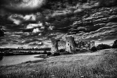 Photograph - Carew Castle Pembrokeshire 3 Mono by Steve Purnell
