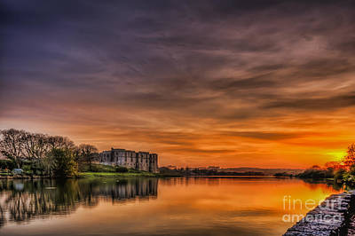 Photograph - Carew Castle Sunset 1 by Steve Purnell