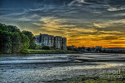 Photograph - Carew Castle Sunset 3 by Steve Purnell