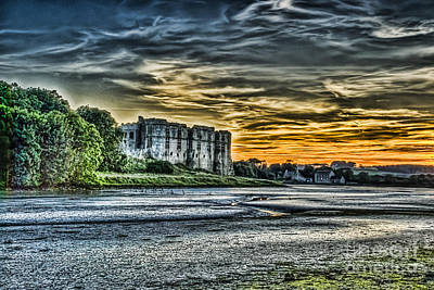 Photograph - Carew Castle Sunset 4 by Steve Purnell