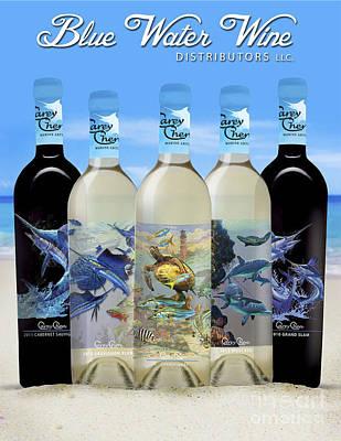 Carey Chen Wines Glass Art - Carey Chen Fine Art Wines by Carey Chen