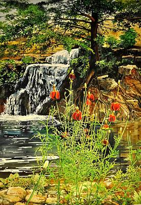 Carey Falls At Star Ranch Art Print