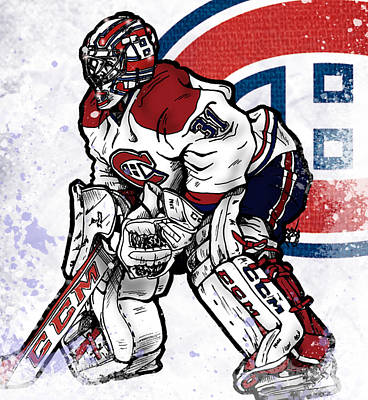 Canadiens Digital Art - Carey Price by Nate Gandt