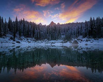 Frost Photograph - Carezza. by Juan Pablo De
