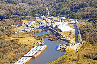 Photograph - Cargil Salt Mine At Avery Island Louisiana by Ronald Olivier