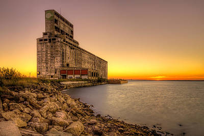 Cargill Pool Elevator Twilight Art Print