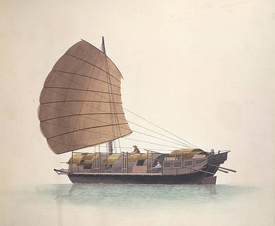 Illustration Technique Photograph - Cargo Boat by British Library