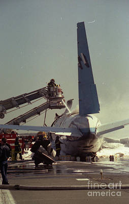 Photograph - Cargo Plane Crash At Jfk by Steven Spak