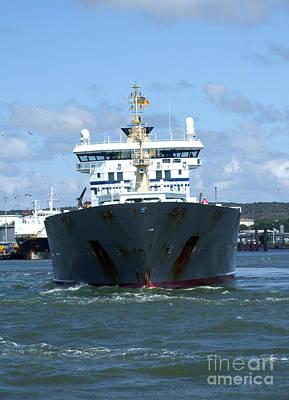 Photograph - Cargo Ship by Antony McAulay