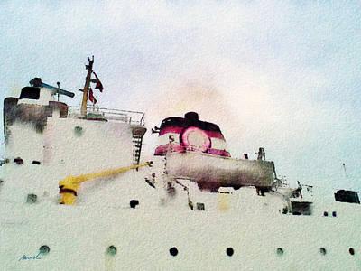Digital Art - Cargo Ship by The Art of Marsha Charlebois