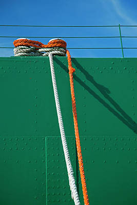 Cargo Ship Mooring Line Art Print by Jim West