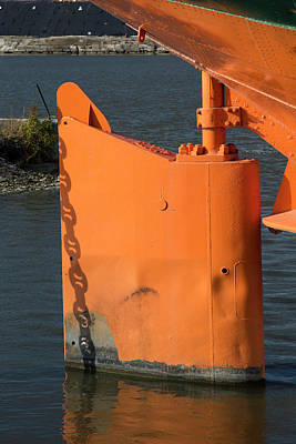 Freighter Photograph - Cargo Ship Rudder by Jim West