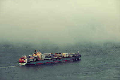 Photograph - Cargo Ship by Songquan Deng