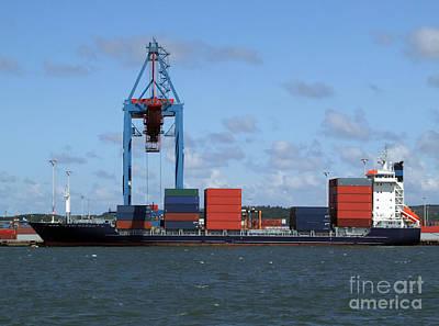 Photograph - Cargo Shipping Industry by Antony McAulay