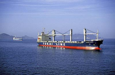 Caravaggio - Cargo Ships Panama III by Buddy Mays