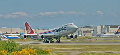 Art Print featuring the photograph Cargolux 747-8f by Jeff Cook