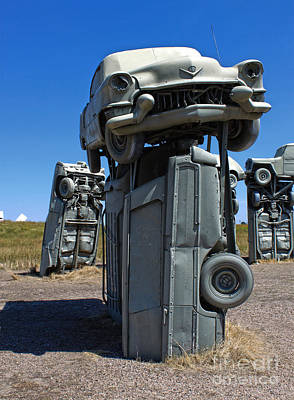 Photograph - Carhenge - 03 by Gregory Dyer