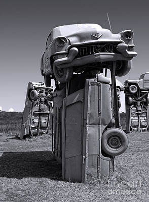 Photograph - Carhenge - 04 by Gregory Dyer